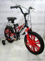 2 Sepeda Anak Pliko 16BEX Cricket Go Glow 16 Inci