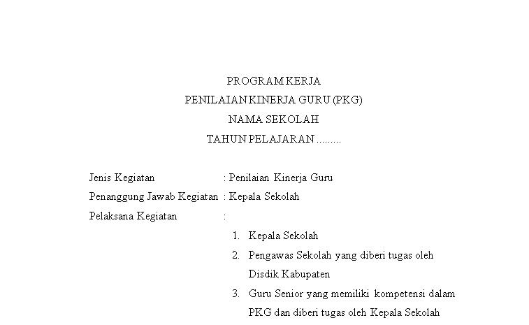 program kerja pkg
