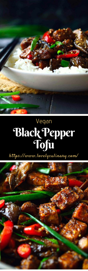 Black Pepper Tofu #Dinnerfood #blackpaperrecipe