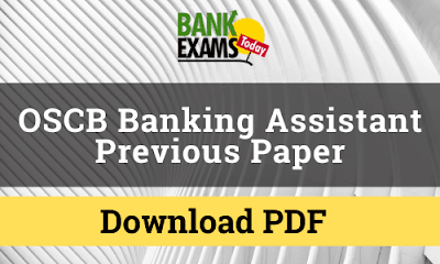 OSCB Banking Assistant Previous Paper PDF
