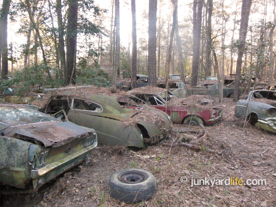 Just A Car Guy: about 19 dozen classic cars near Houston. A scrap ...