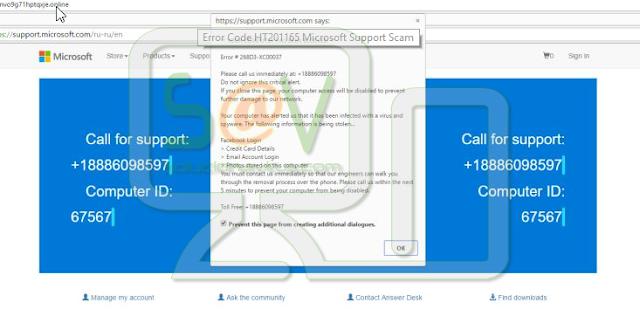 """Error Code HT201165"" pop-ups (Falso soporte)"
