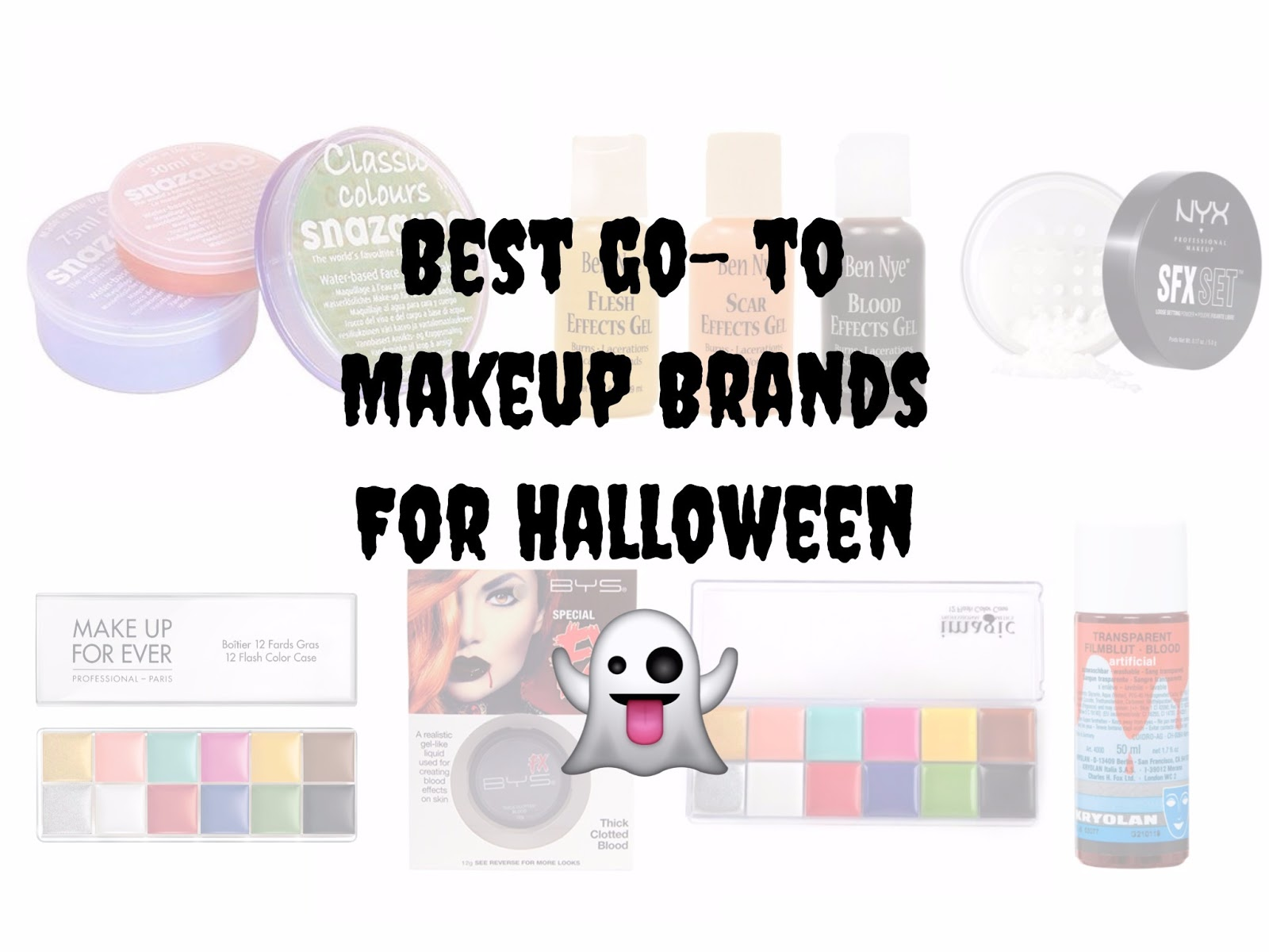 got your halloween makeup looks down pat but clueless on which beauty brands have the tools you need check out this quick list on my recommended makeup