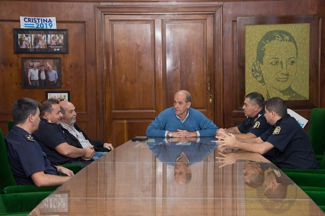 Pablo Zurro se reunió con autoridades de las fuerzas de seguridad
