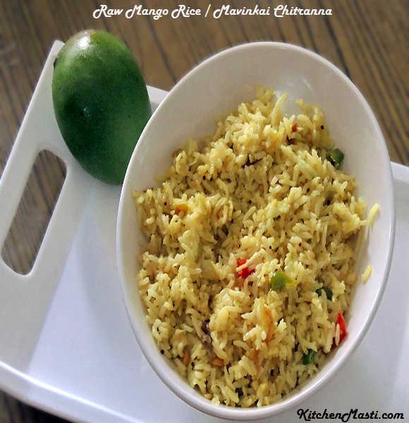 Raw+Mango+Rice+Mavinkai+Chitranna