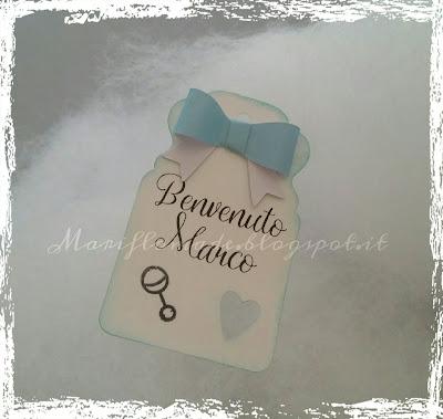 silhouette cameo, souvenir, it's a boy, versamagic, bomboniera, nascita, lawn fawn