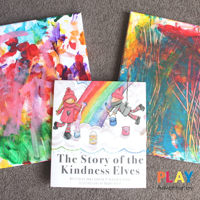 Rainbow Process Art - The Story of The Kindness Elves
