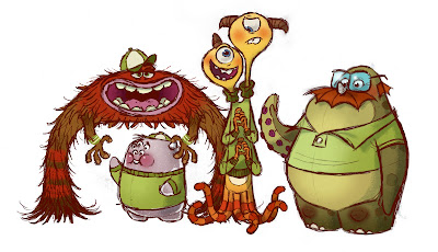 Pixar Post - Monsters University Concept Art - Chris Sasaki
