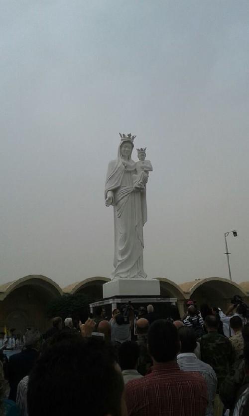Bersyukur Kotanya Bebas dari Al-Nusra, Umat Kristen Suriah Bangun Patung Bunda Maria Raksasa