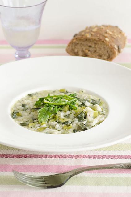 Risotto con broccolo fiolaro di Creazzo e gorgonzola