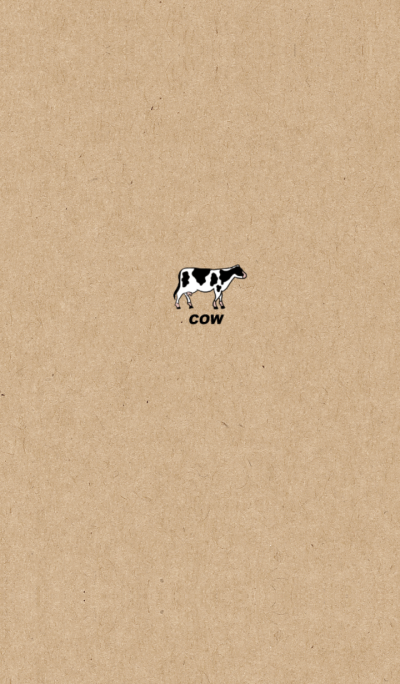 Kraftpaper and cow