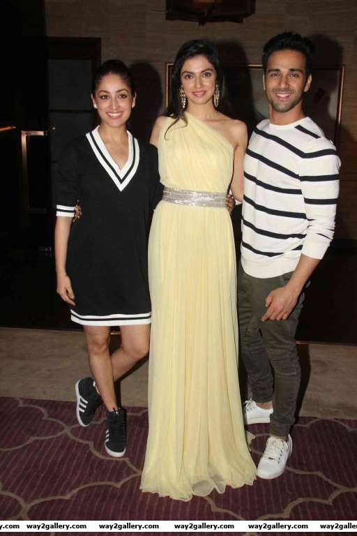 Yami Gautam Divya Khosla Kumar and Pulkit Samrat celebrated the success of their latest film Sanam Re