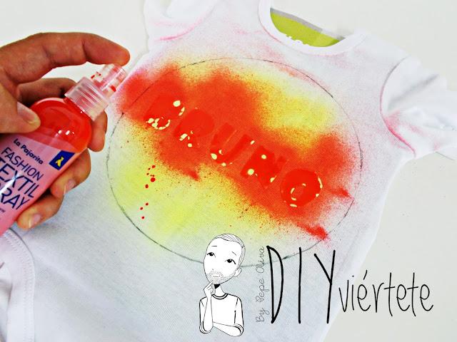 pintura-spray-fashion-la pajarita-pintura textil-tela-body-bebé-batik-6