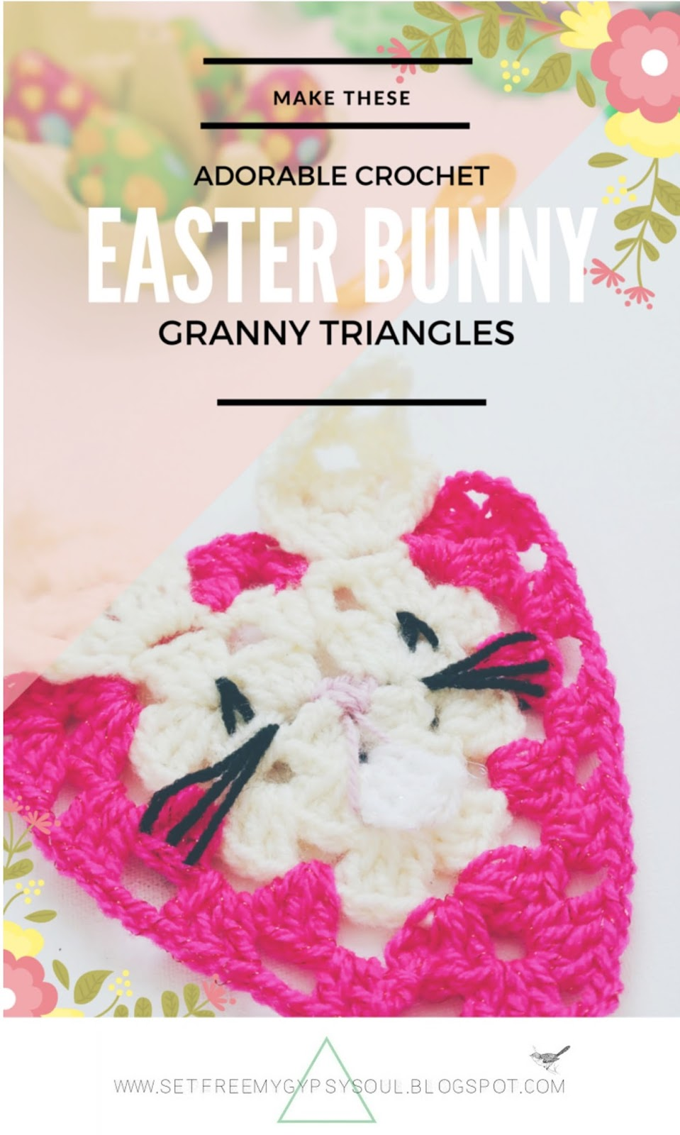 free crochet rabbit granny square pattern easter bunny