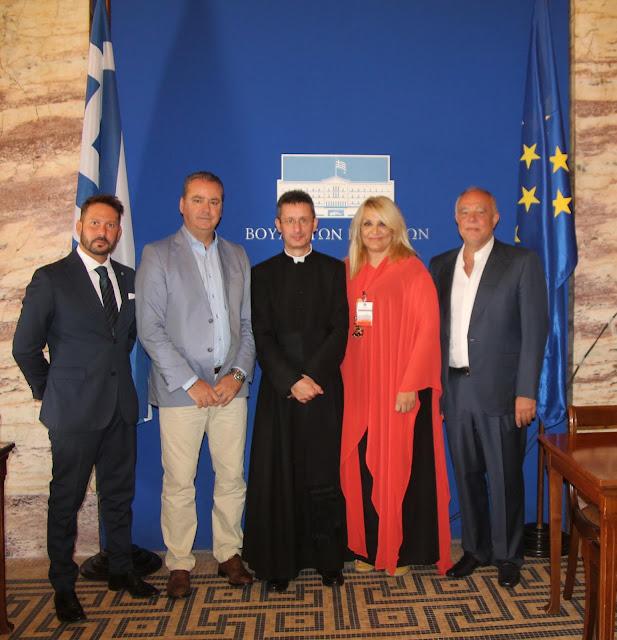 Επίσκεψη της Προεδρίας των Διεθνών Βραβείων «Giuseppe Sciacca» στη Βουλή των Ελλήνων