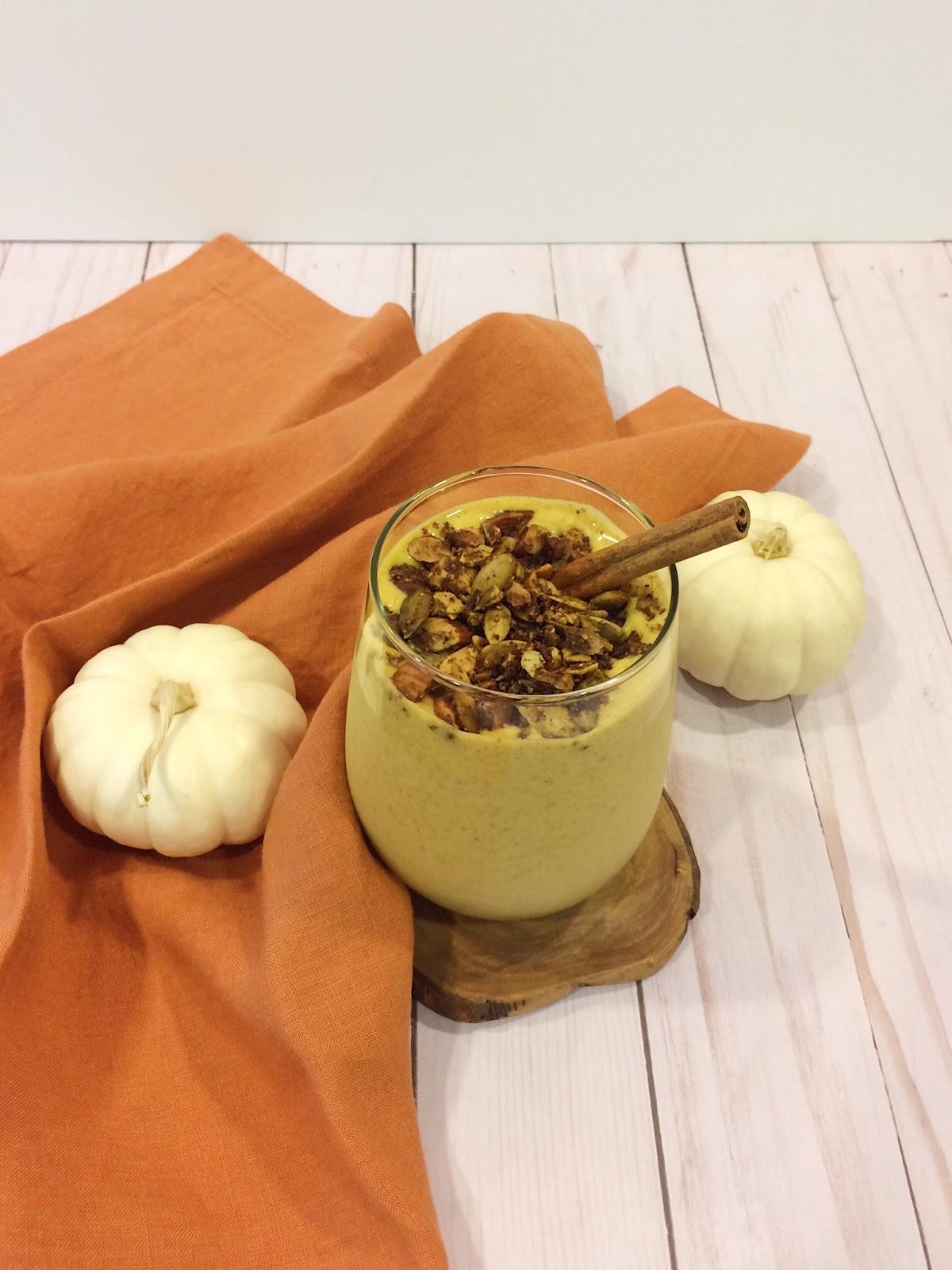 Pumpkin recipes, pumpkin smoothie recipe, pumpkin spice protein shake