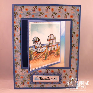 Our Daily Bread Designs Stamp Set, Come To Me, Paper Collection:By the Shore,Custom Dies: Lever Card, Lever Card Layers, Pierced Squares, Pierced Rectangles, Layered Lacey Squares, Filigree Frames