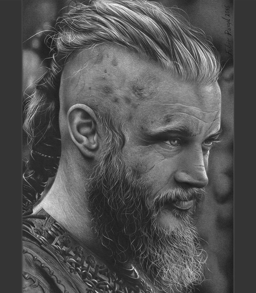 12-Ragnar-Lothbrok-Vikings-Fabio-Rangel-Drawings-of-Protagonists-from-TV-and-Movies-www-designstack-co