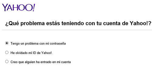 problemas contrasena yahoo mail