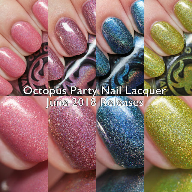 Octopus Party Nail Lacquer Summer Holos