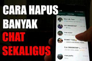 Cara Hapus Chat Whatsapp Sekaligus