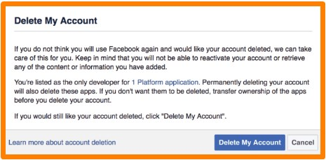 how to permanently delete your facebook account forever