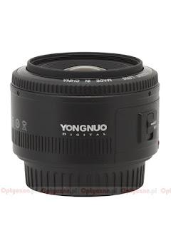 Объектив Yongnuo YN 35mm f/2, вид сбоку