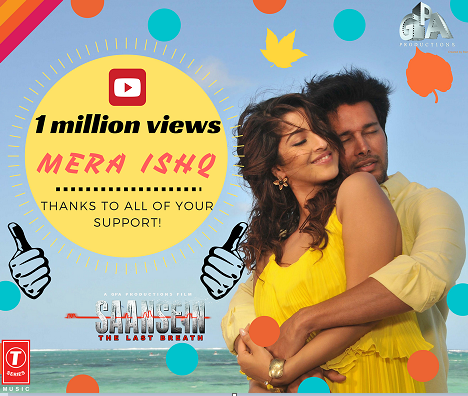 SAANSEIN romantic song 'Mera Ishq' crosses 10 Lakh views