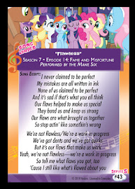 My Little Pony Flawless Series 5 Trading Card