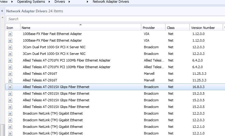 Drivers Allied Telesis AT-2911xx Fiber Ethernet