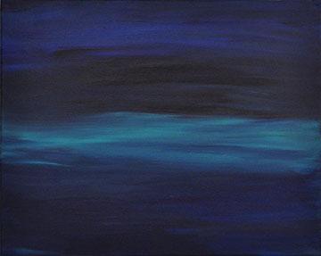 Dark Sea Northern Lights