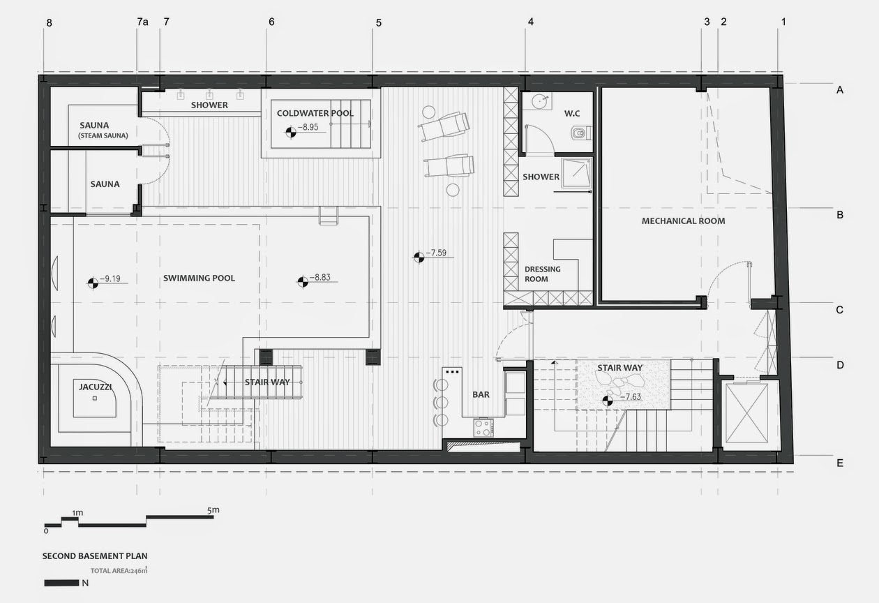 06-Plans-Second-Basement-Plan-Section-Nextoffice-Sharifi-Ha-House-Revolving-Rooms-Architecture-www-designstack-co