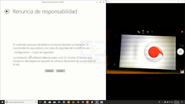 renuncia de responsabilidad windows device recovery tool