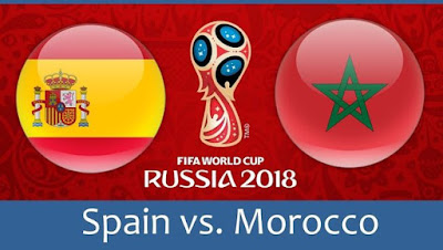Live Streaming Spain vs Morocco Piala Dunia 26.6.2018