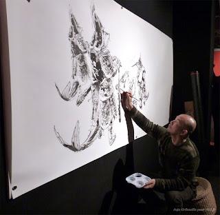 Performance graphique de Kim Jung-Gi lors du 41ème FIBD d'Angoulême