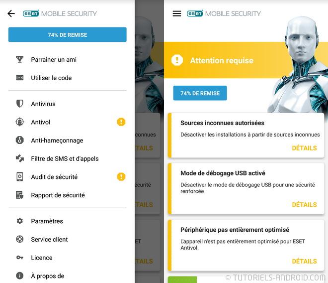 Eset Antivirus pour Android