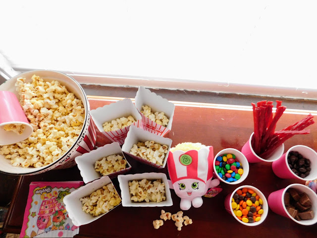 A Shopkin World Vacation Movie Preview Party | Popcorn Bar
