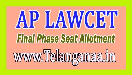 AP LAWCET Final Phase Seat Allotment 2018