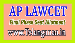 AP LAWCET Final Phase Seat Allotment 2016