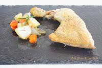 Pollo con verduras al horno (asado en bolsa)