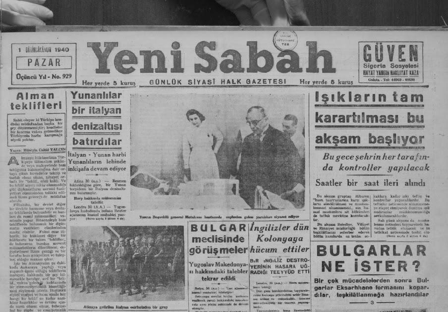 Yeni Sabah - Aralık 1940 ~ Tam Metin