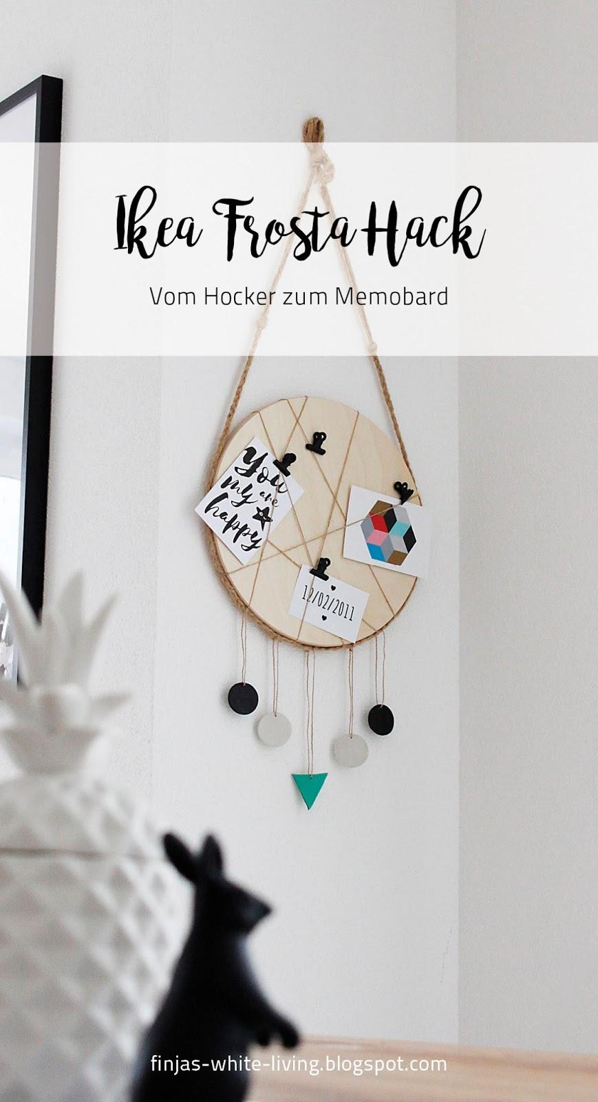 einfaches DIY nicht nur fürs Indianer Kinderzimmer: Ikea Frosta Hack vom Hocker zum Memoboard