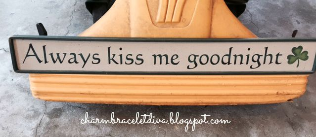 Always Kiss Me Goodnight Sign with Shamrock