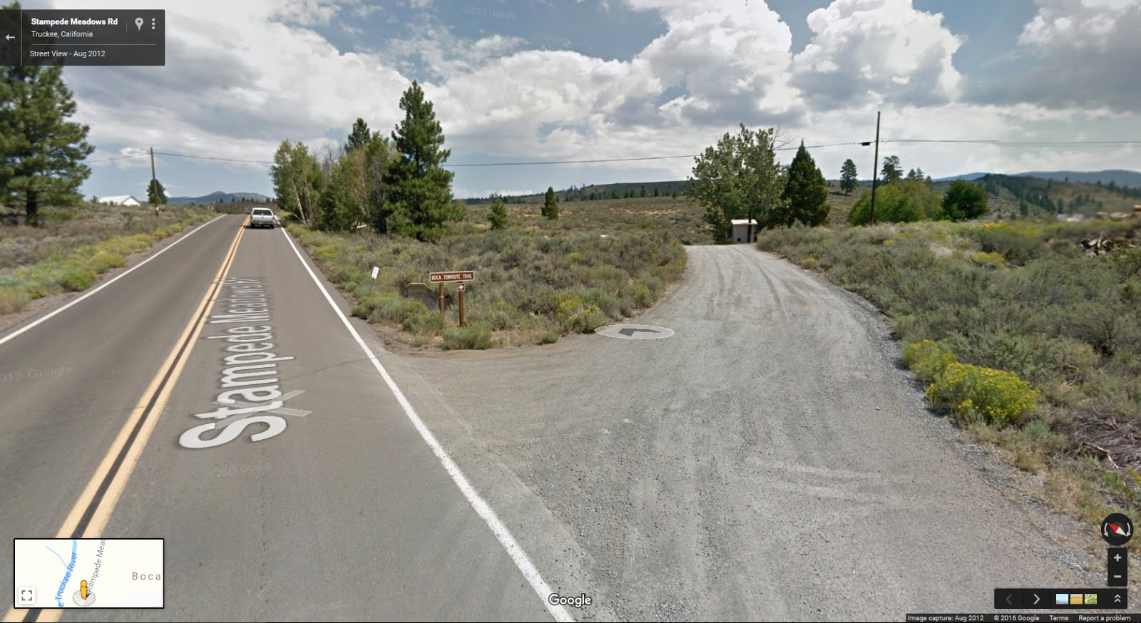 A Google street view of the trailhead