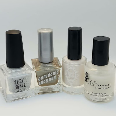 ridge filling, cream polish, night owl lacquer, superchic lacquer, powder perfect, smooshy nails