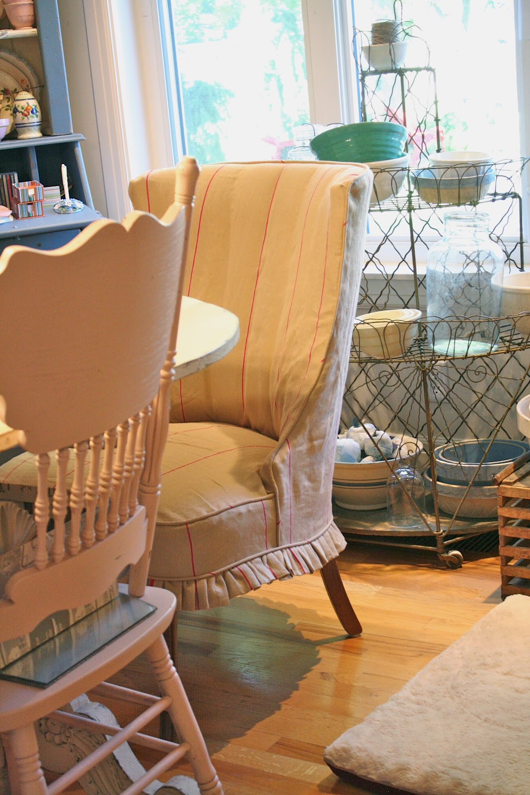 Custom Dining Chair Slipcovers Navy Slipper By Shelley Slipcovered Host And Hostess