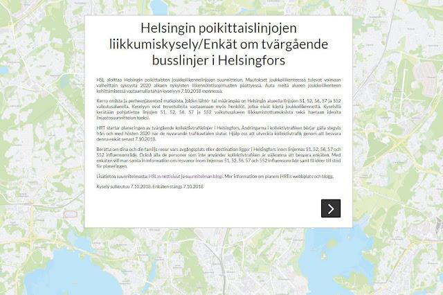 Helsingin poikittaislinjojen liikkumiskysely on avattu