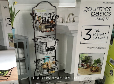 Store whatever you like with the Mikasa Gourmet Basics 3 Tier Market Basket