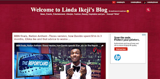 Tampilan Template Blog Linda Ikeji April 2017