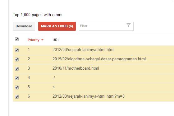 crawl error list google webmaster 2